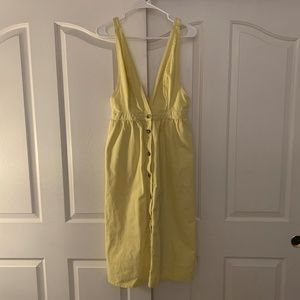 Urban Outfitters Yellow Overall Dress